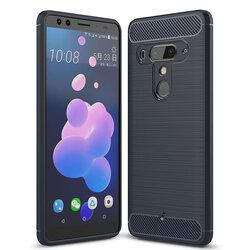 Husa HTC U12+ TPU Carbon Albastru