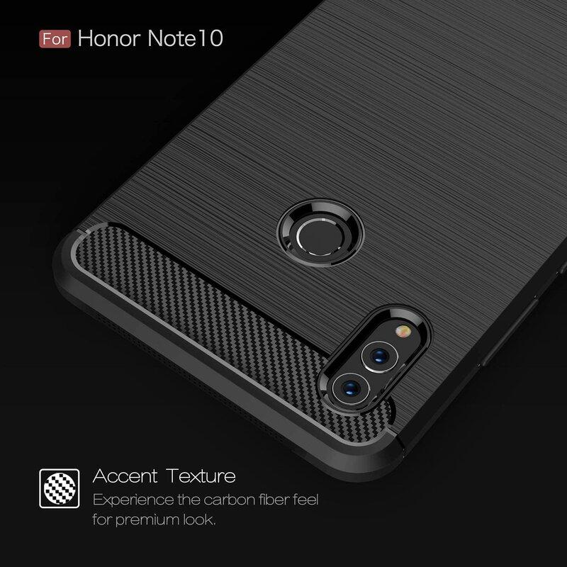 Husa Huawei Honor Note 10 TPU Carbon Rosu