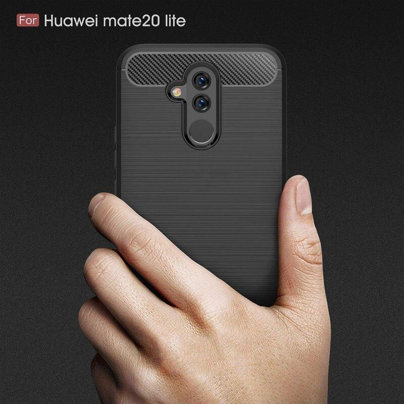 Husa Huawei Mate 20 Lite TPU Carbon Negru