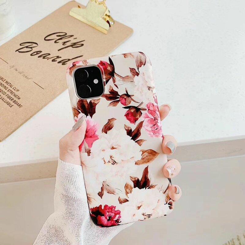 Husa iPhone 8 Tech-Protect Floral - Bej