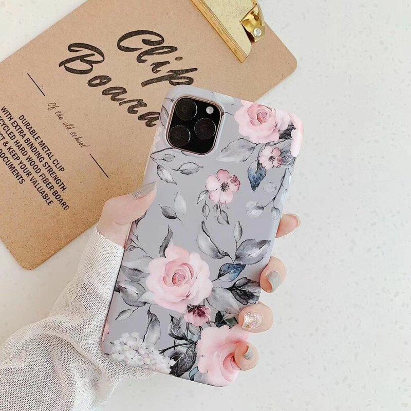 Husa iPhone 7 Tech-Protect Floral - Gri
