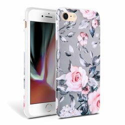 Husa iPhone 8 Tech-Protect Floral - Gri