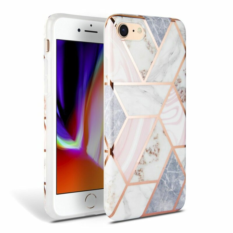 Husa iPhone 8 Tech-Protect Marble - Roz