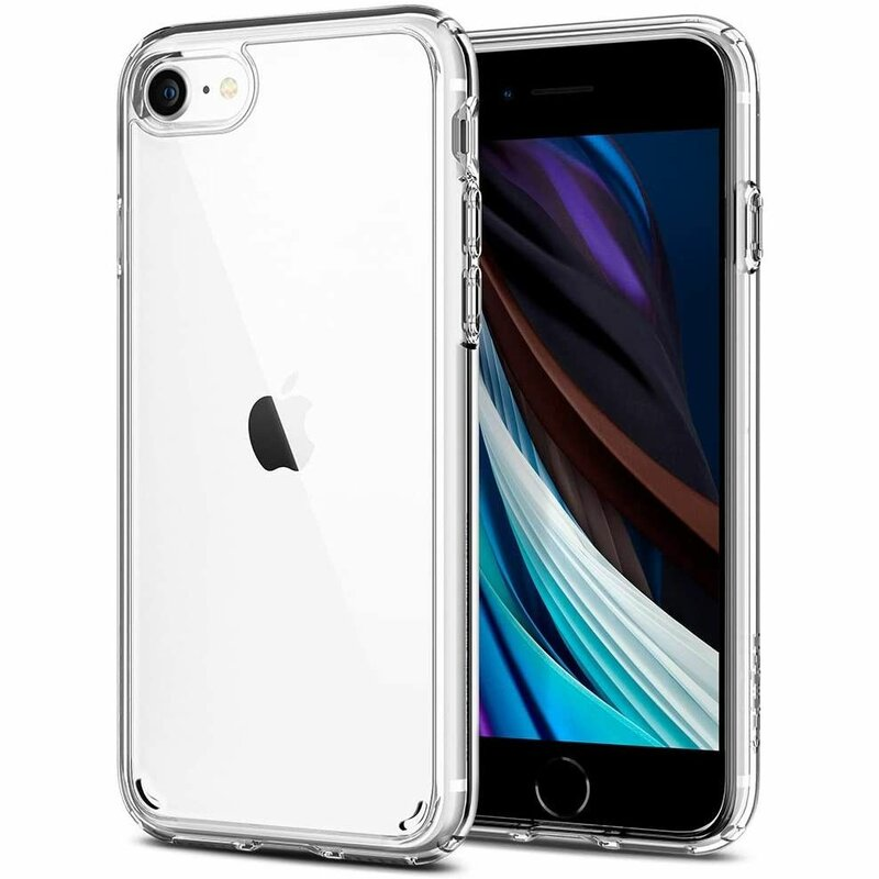 Husa iPhone SE 2, SE 2020 Spigen Ultra Hybrid - Crystal Clear