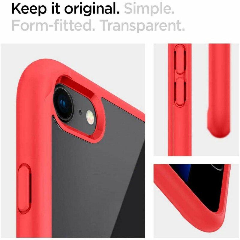 Husa iPhone 8 Spigen Ultra Hybrid - Red