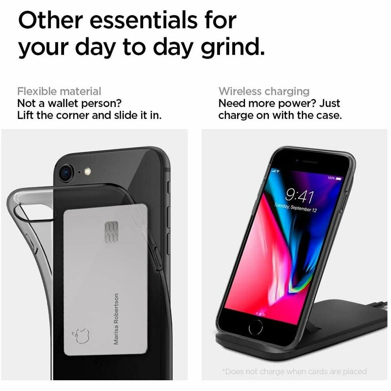 Husa iPhone 7 Spigen Liquid Crystal - Space Crystal