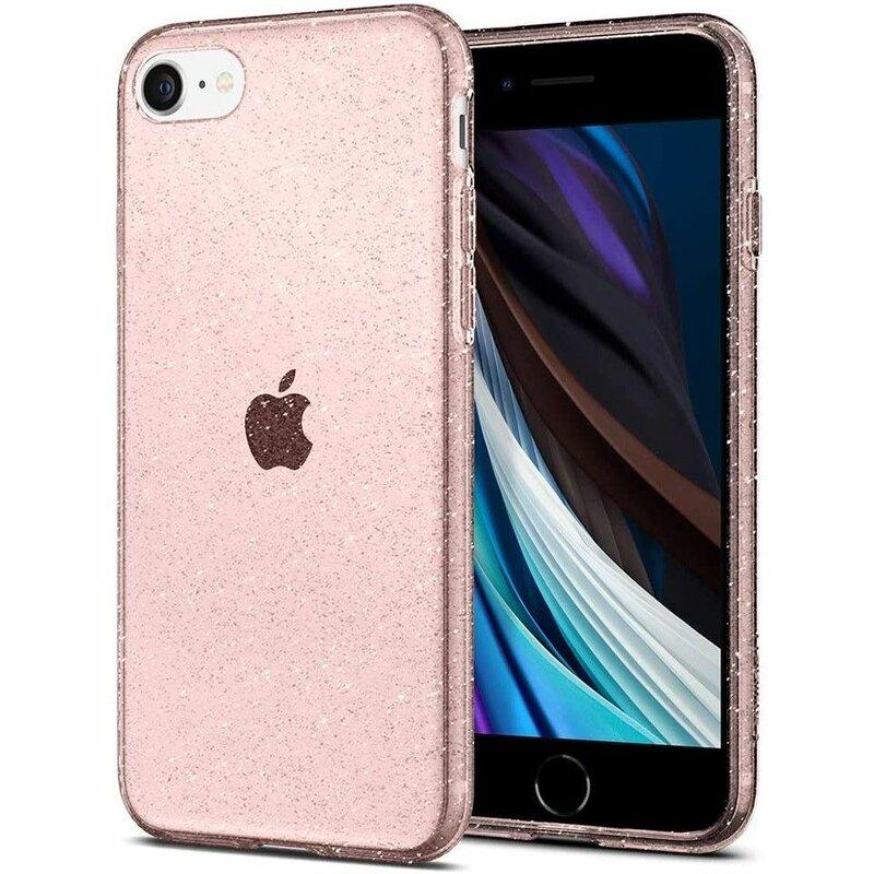 Husa iPhone 7 Spigen Liquid Crystal - Glitter - Rose Quartz