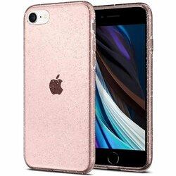 Husa iPhone 8 Spigen Liquid Crystal - Glitter - Rose Quartz