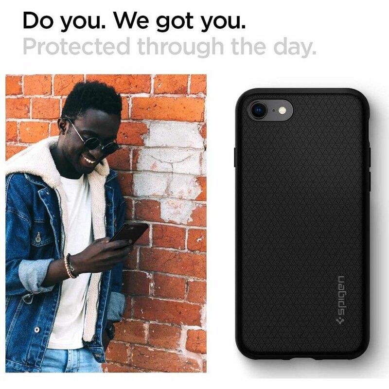 Husa iPhone 8 Spigen Liquid Air - Black