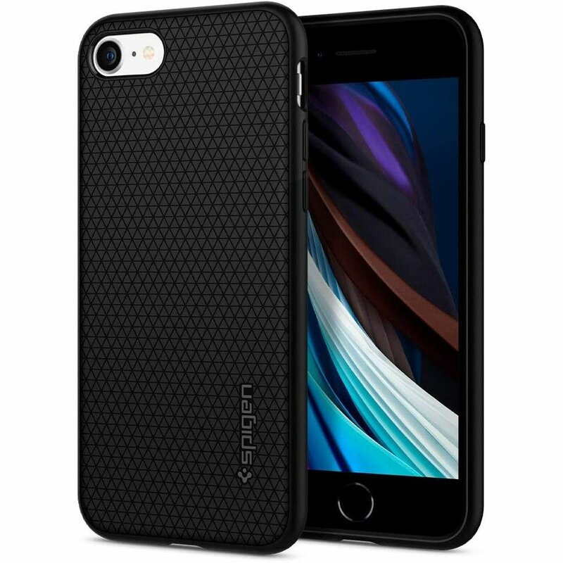 Husa iPhone SE 2, SE 2020 Spigen Liquid Air - Black