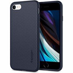 Husa iPhone SE 2, SE 2020 Spigen Liquid Air - Midnight Blue