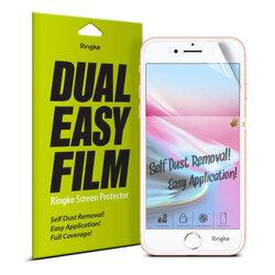 [Pachet 2x] Folie iPhone SE 2, SE 2020 Ringke Dual Easy Film Full Coverage - Clear