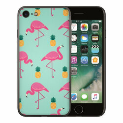 Skin iPhone SE 2, SE 2020 - Sticker Mobster Autoadeziv Pentru Spate - Flamingo