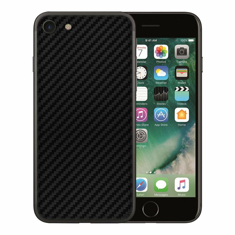 Skin iPhone SE 2, SE 2020 - Sticker Mobster Autoadeziv Pentru Spate - Carbon Black
