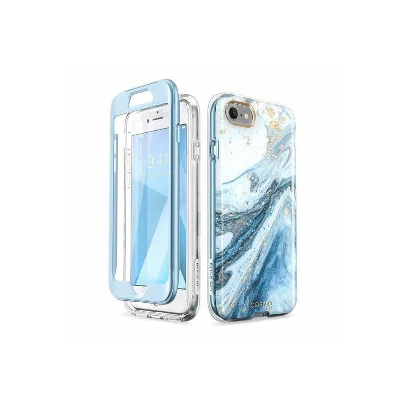 [Pachet 360°] Husa iPhone 8 I-Blason Cosmo + Folie Ecran - Blue