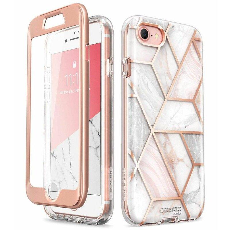 [Pachet 360°] Husa iPhone SE 2, SE 2020 I-Blason Cosmo + Folie Ecran - Marble