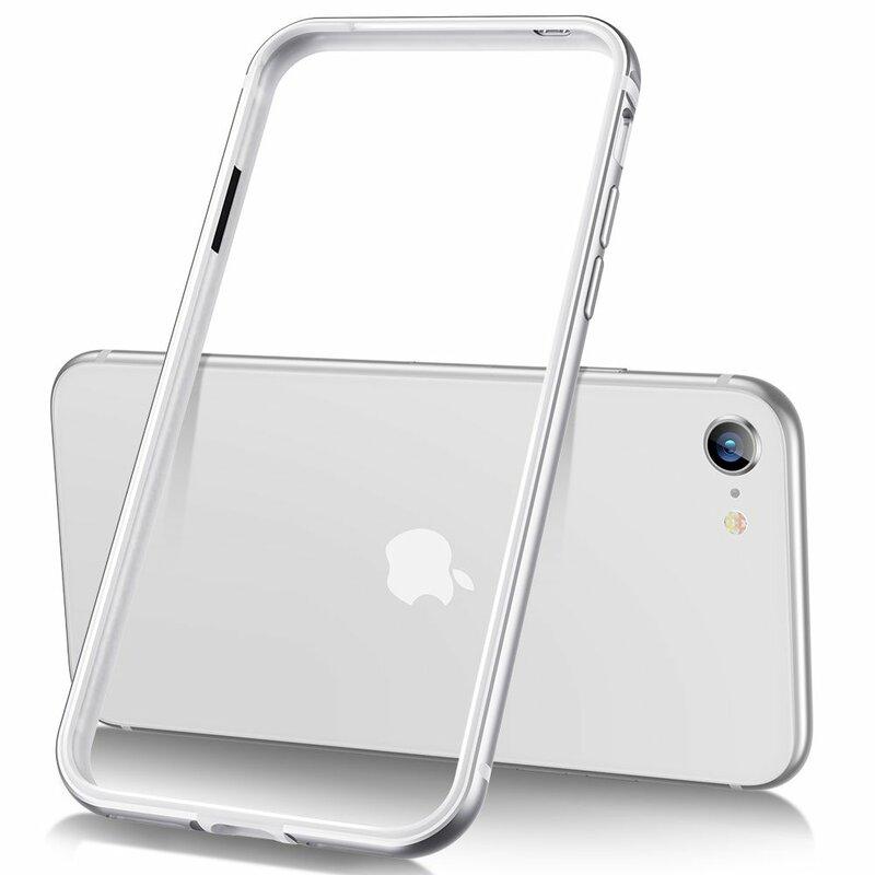 Bumper iPhone 8 ESR Edge Guard - Argintiu