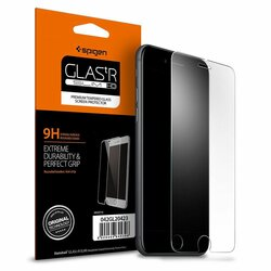 Folie Sticla iPhone SE 2, SE 2020 Spigen Glas.t R Slim 9H - Clear