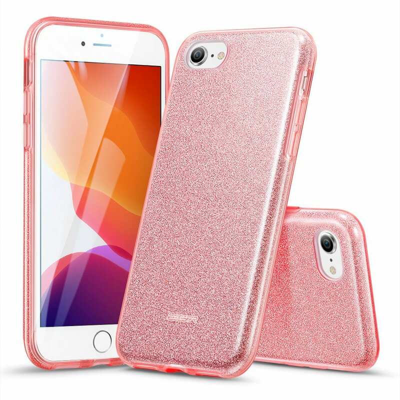 Husa iPhone 8 ESR MakeUp Glitter - Rose Gold