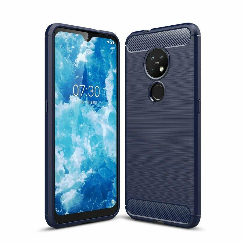 Husa Nokia 6.2 2019 TPU Carbon - Albastru