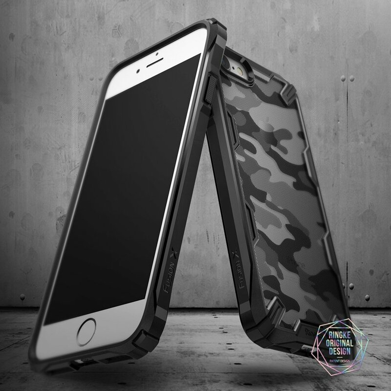 Husa iPhone 8 Ringke Fusion X Design - Camo Black