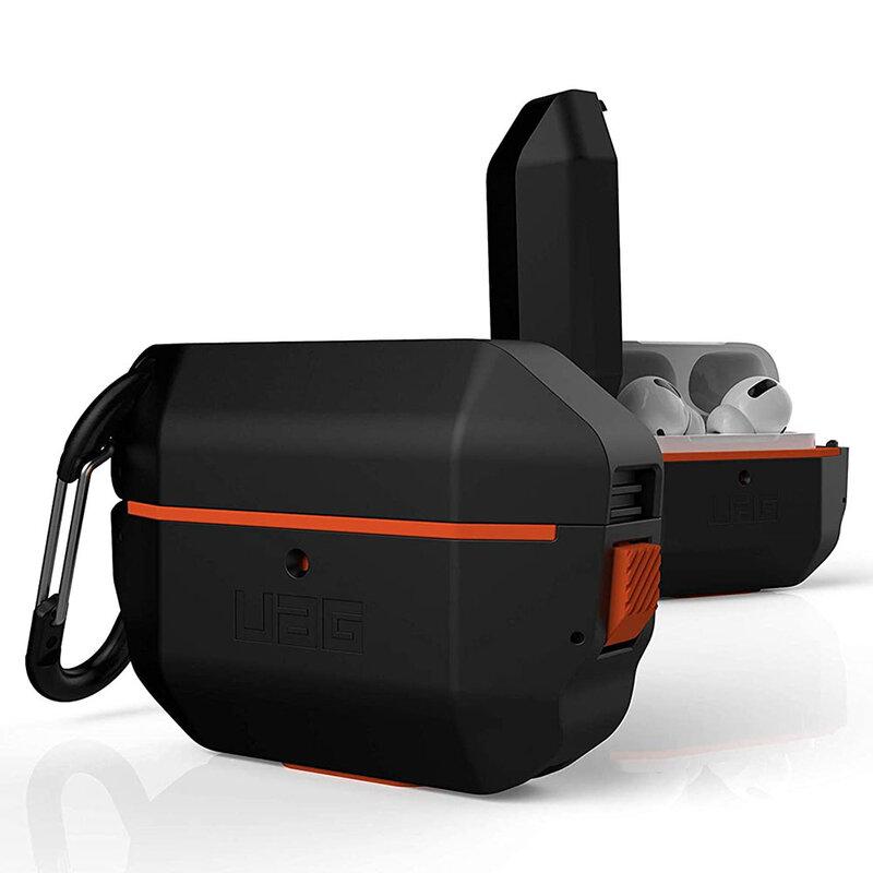 Husa Apple Airpods UAG Hardcase Cu Holder Metalic Detasabil - Black