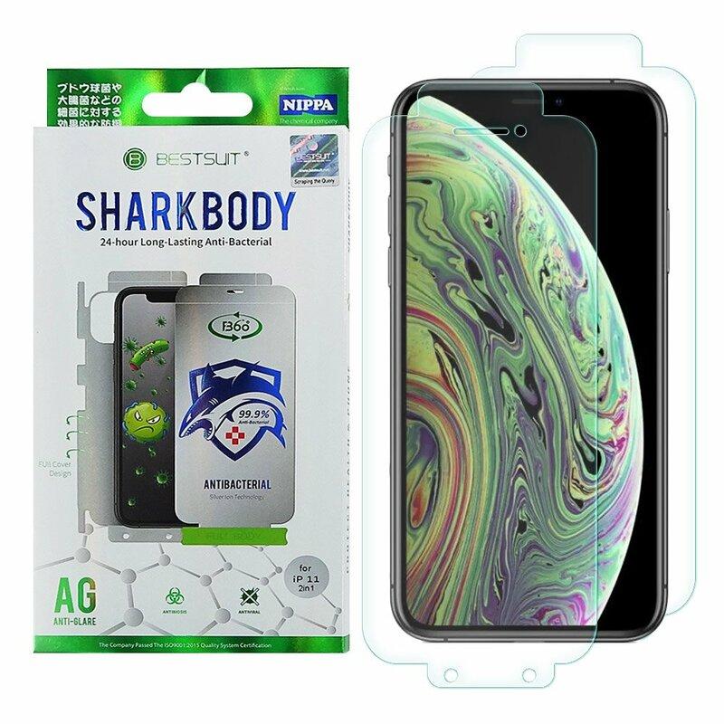 Folie iPhone XS Bestsuit Sharkbody Antibacterial Full Body 360° Self-Repair Film - Clear