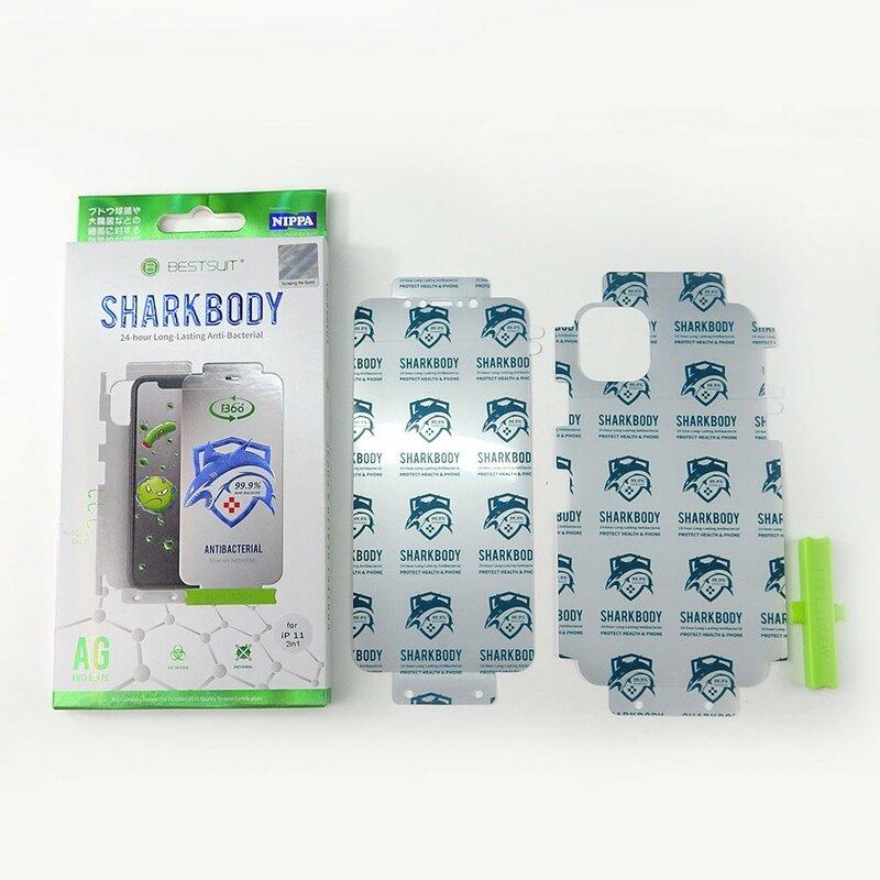 Folie iPhone 11 Pro Bestsuit Sharkbody Antibacterial Full Body 360° Self-Repair Film - Clear