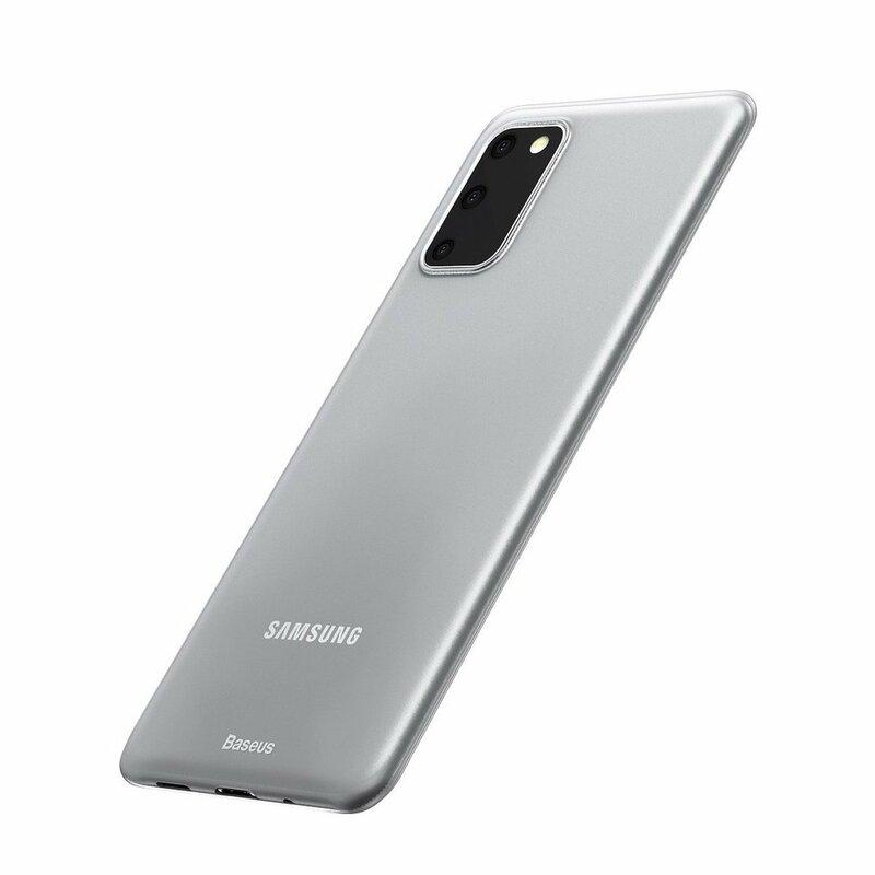 Husa Samsung Galaxy S20 5G Baseus Wing Protective Case - WISAS20-02 - Alb
