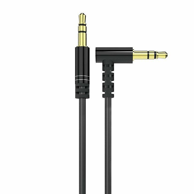 Cablu Audio Dudao L11 Angled 90° Aux Mini Jack 3.5mm 1m - Black