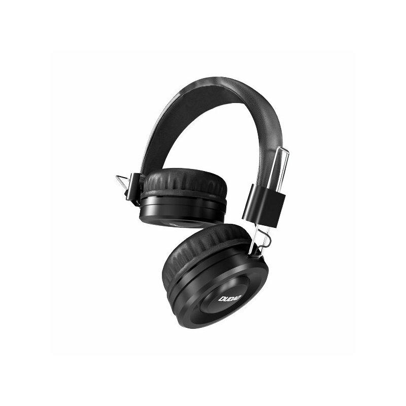 Casti On-Ear Cu Microfon Pe Fir Dudao X21 Wired Headset High Quality - Black