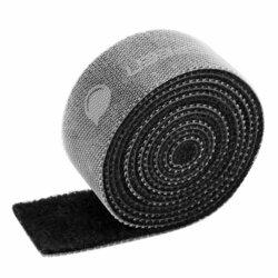Organizator cabluri Ugreen, multifunctional, banda velcro, 2m, negru, 40354