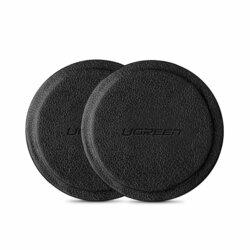 [Pachet 2x] Placa Metalica Autoadeziva Ugreen Car Holder Pentru Suporturi Magnetice Din Piele Ecologica - Black