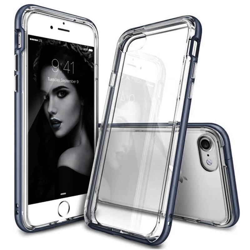 Husa iPhone 8 Ringke Frame Dual Layer - Slate Metal