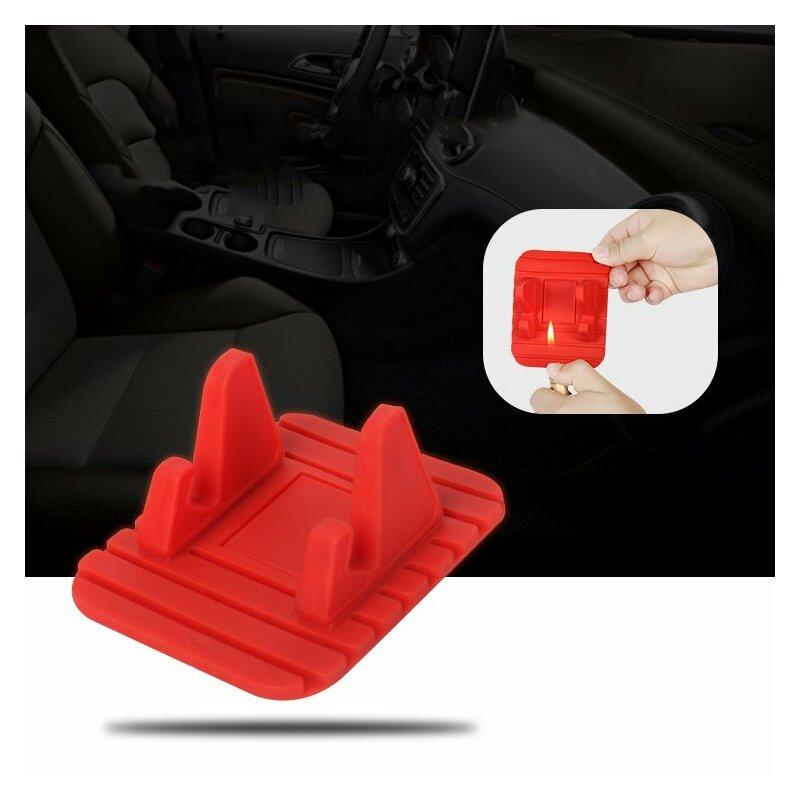 Suport Auto Anti Skid Pad Bracket Din Silicon Pentru Telefon - Negru