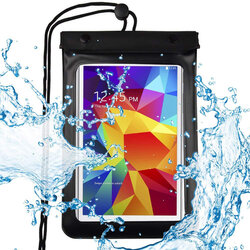 Husa Subacvatica Pentru Telefon/Tableta Universala Waterproof Case Pouch Dry Bag 8'' - Black