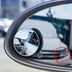 [Pachet 2x] Oglinda Auto Unghi Mort Baseus Rotunda Pentru Oglinzile Laterale Cu Adeziv - ACMDJ-01 - Black