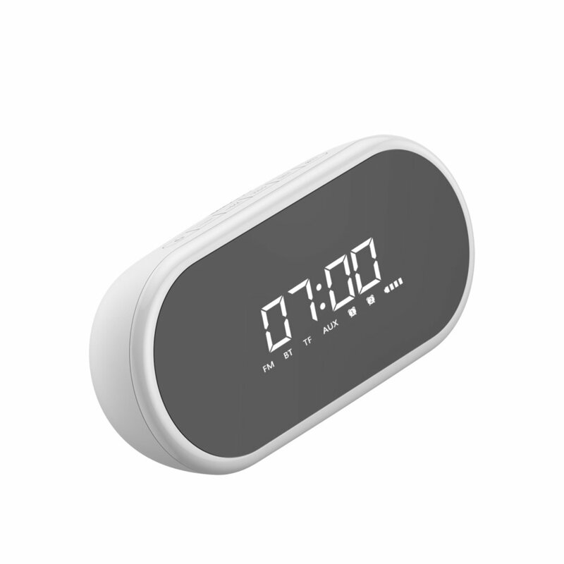 Boxa Portabila Baseus Encok E09 Bluetooth Stylish Wireless with Alarm Clock/LED - NGE09-02 - Alb