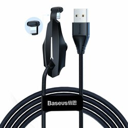 Cablu De Date Baseus Colorful Mobile Games USB/Lightning Charging For Gamers 1.5A 2m - CALXA-B01 - Black
