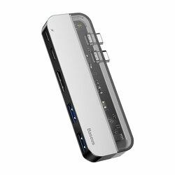 Hub Baseus Multifunctional Adapter Type-C PD 60W/Type-C 15W/HDMI 4K/2x USB 3.0 - CAHUB-TS0G - Gray