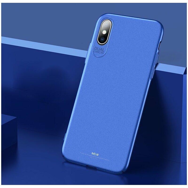 Husa iPhone XS Max MSVII Ultraslim Back Cover - Blue