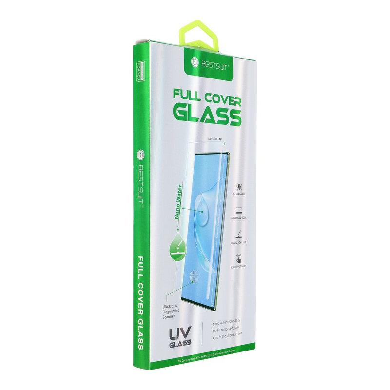 Folie Sticla Samsung Galaxy S9 BestSuit Full Cover UV Glass 6D Nano Water - Clear