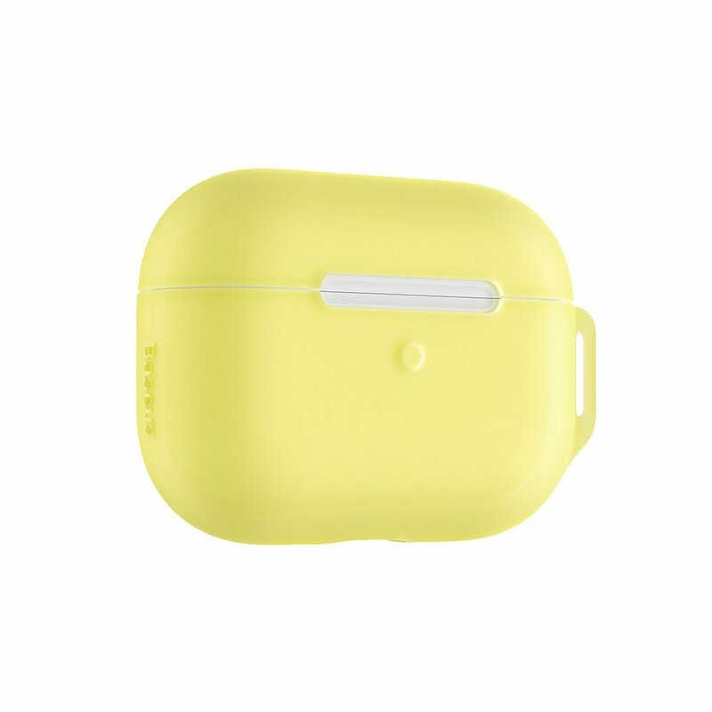 Husa Apple Airpods Pro Baseus Let''s go Jelly Lanyard Case Silica Gel Cu Strap Siliconic - WIAPPOD-D0Y - Yellow