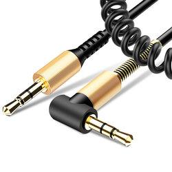 Cablu Auxiliar Mobster Twisted 90°, Jack 3.5mm to Jack 3.5mm - AUDCAB008 - Negru