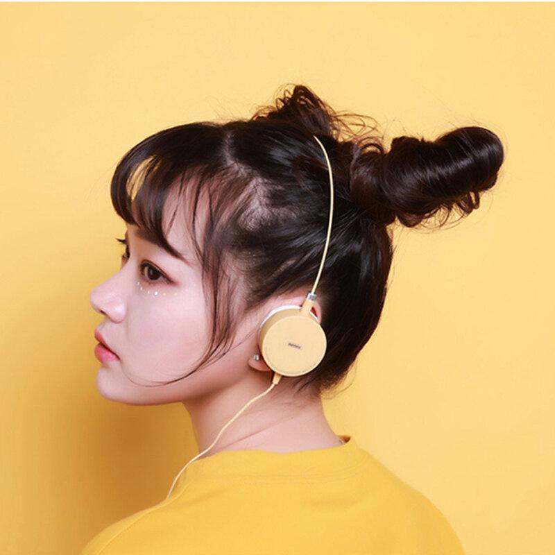 Casti On-Ear Remax Smart High Quality Stereo Sound Cu Microfon 3.5mm - RM-910 - Yellow