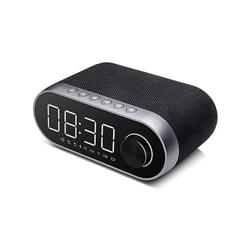 Boxa Portabila Remax Bluetooth Wireless With Alarm Clock/LED - RB-M26 - Black