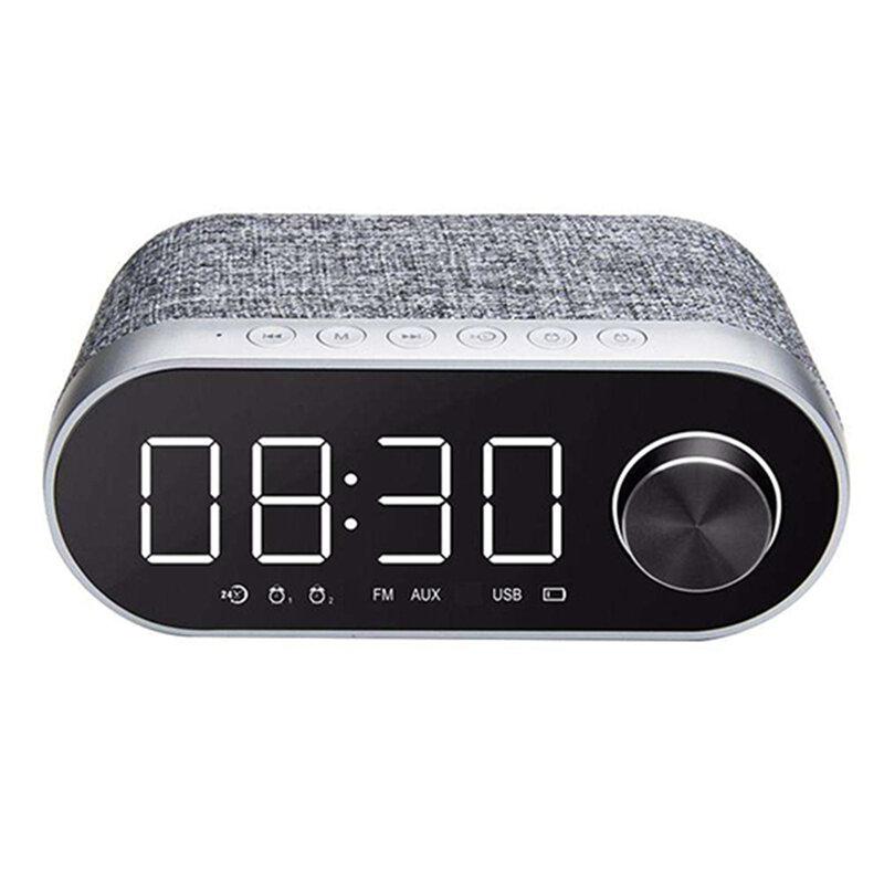 Boxa Portabila Remax Bluetooth Wireless With Alarm Clock/LED - RB-M26 - Silver