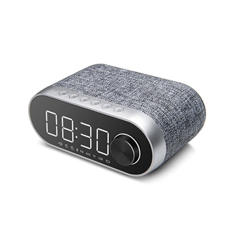 Boxa Portabila Remax Bluetooth Wireless With Alarm Clock/LED - RB-M26 - Silver