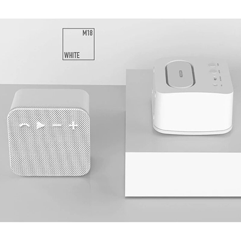 Boxa Portabila Remax Fabric Bluetooth Wireless Din Material Textil - RB-M18 - White