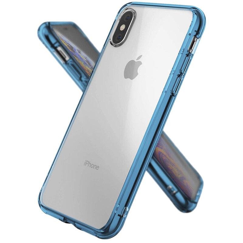 Husa iPhone XS Max Ringke Fusion - Aqua Blue